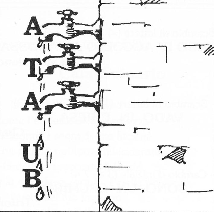 B, U cascan dagli A, T, A = buca scandagliata  Sib 4-07